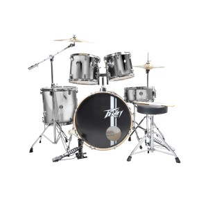 Peavey PV 5PC Drum Set Silver